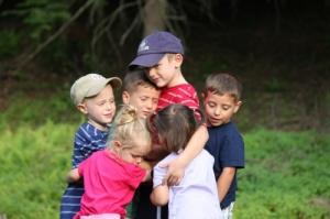 Cousin Kid Group Hug
