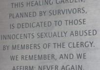 Clergy Abuse Healing Garden