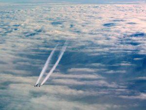 Air Plane in Blue Sky